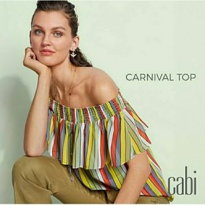 CAbi Off Shoulder Carnival Top! Sz: S